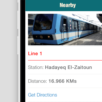 Cairo Metro - iOS Application, Android Application, Windows Phone Application