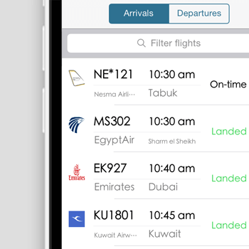 Cairo Airport Flights - iOS Application, Android Application